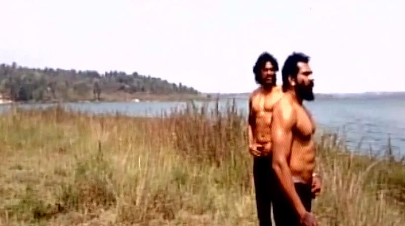 The two actors, Anil and Uday, snapped before filming the scene. (Pic: ANI)