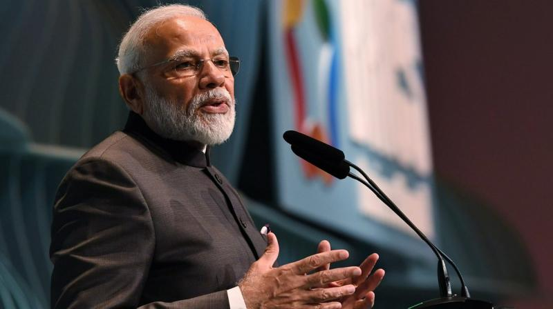 "Noting that India has ""limitless"" possibilities and ""countless"" opportunities, the Prime Minister urged the BRICS business leaders to take advantage of them. (Photo: MEA 