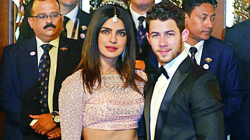 Priyanka Chopra and Nick Jonas Gather for Another Wedding Reception