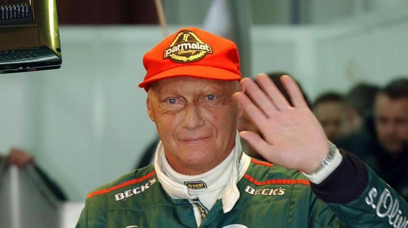 Lauda, won the F1 titles in 1975, 1977 and 1984. He was hugely admired within the F1 fraternity. He won two F1 titles for Ferrari and one for Mclaren.