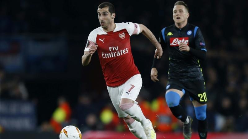 Mkhitaryan has made 39 appearances for Arsenal in all competitions this season, scoring six goals. (Photo: AFP)