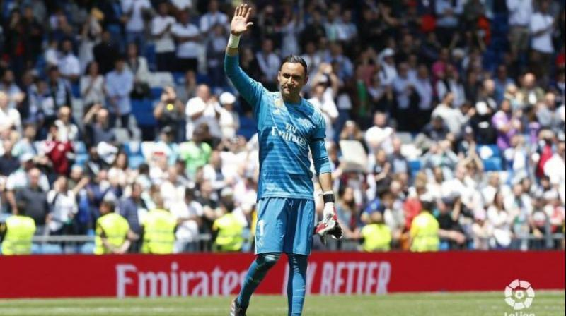 The 32-year-old Costa Rican goalkeeper joined Madrid from Levante during August 2014. (Photo: Keylor Navas/Twitter)