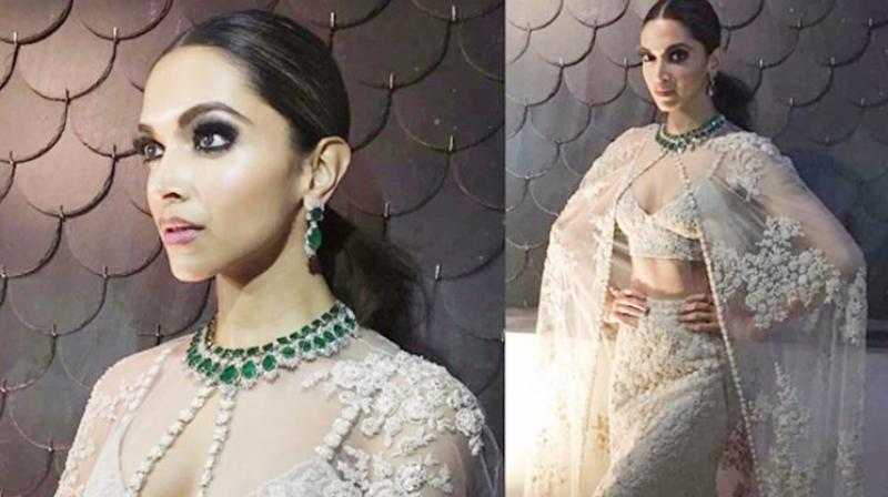 Deepika Padukone in Indian wear.