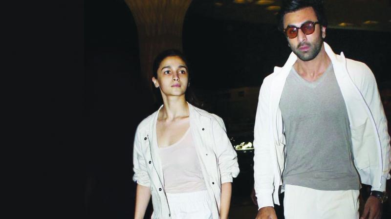 Alia Bhatt and Ranbir Kapoor. (Photo: Viral Bhayani)