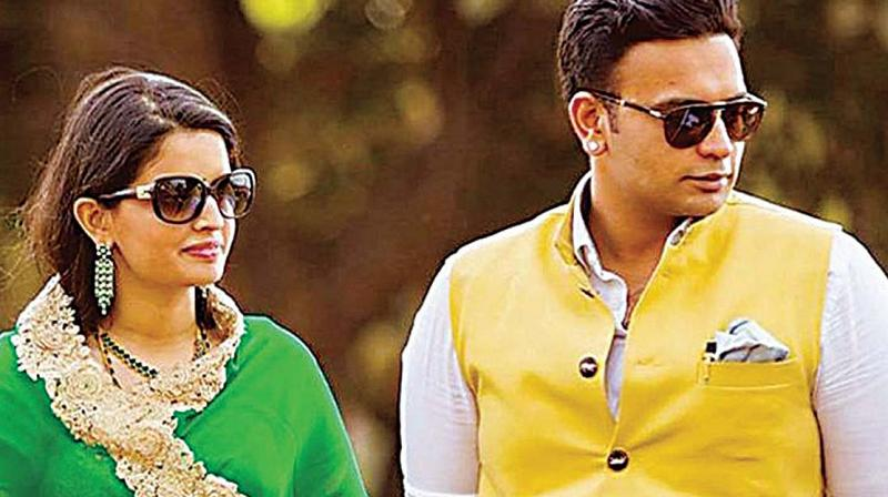 Mysuru scion Yaduveer Krishnadatta Chamaraja Wadiyar with his wife Trishika Kumari Devi in a file photo.