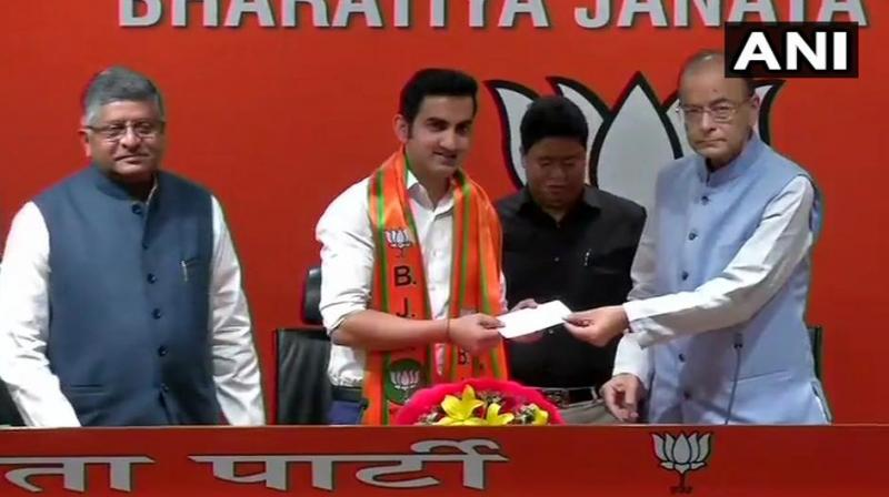Former cricketer Gautam Gambhir joins Modi's BJP in run-up to Indian polls
