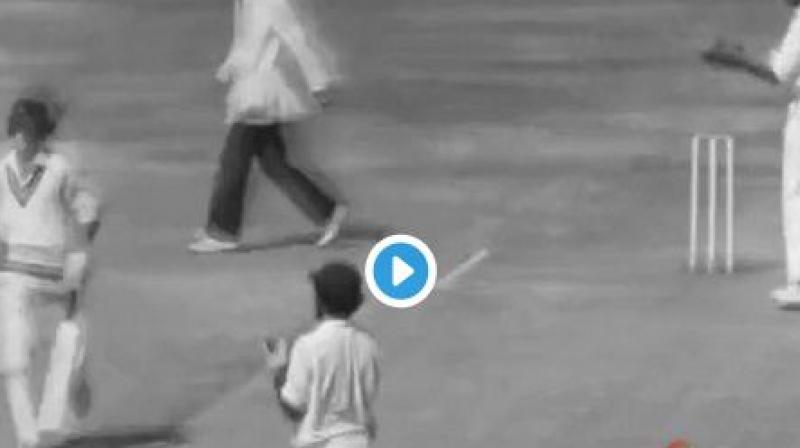 Watch: 1975 video of woman kissing cricketer goes viral