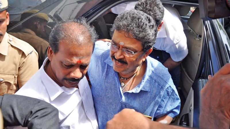 S.Ve. Shekhar at Chief Metropolitan Magistrate Court, Egmore on Wednesday.  (Photo:DC)