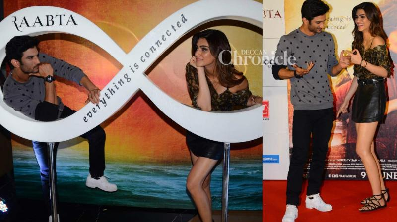 Sushant Singh Rajput and Kriti Sanon displayed their amazing chemistry as they launched the trailer of their film 'Raabta' in Mumbai on Monday. (Photo: Viral Bhayani)