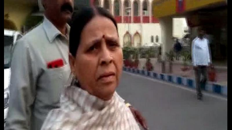 Rabri Devi said, 'Nitish Kumar had said that he wants to see Tejashwi as Chief Minister in 2020 if we (Mahagathbandhan) declare him the prime ministerial candidate.' (Photo: ANI)