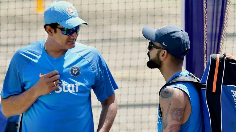 Anil Kumble's proposal is an indicator that whenever Virat Kohli would have earned more from the BCCI, his own earnings would have gone up proportionately. (Photo: PTI)