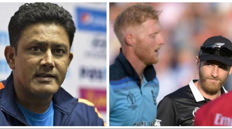 In a pulsating encounter, England were adjudged the winners of the World Cup on the basis of their superior boundary count - 22 fours and two sixes -- to New Zealand's 17 after the the match ended in a tie after regulation play and subsequent Super Over. (Photo:AFP/PTI)