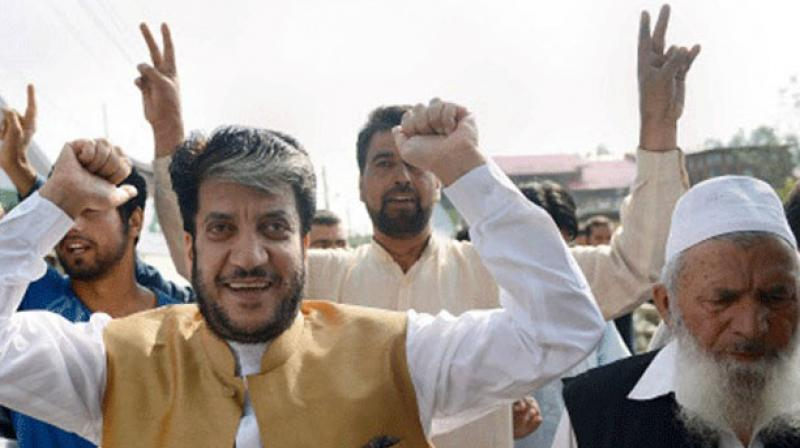 File photograph of Separatist leader Shabir Shah (left).