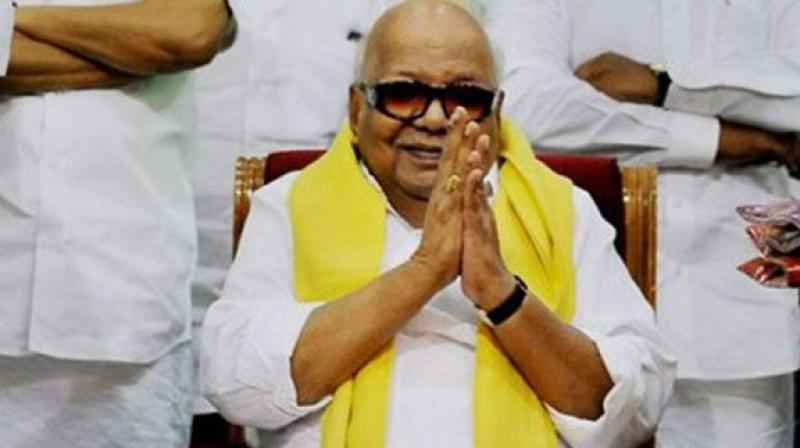 M Karunanidhi, who led the DMK for five decades, was the Chief Minister for 19 years spread over five terms. (Photo: AP)