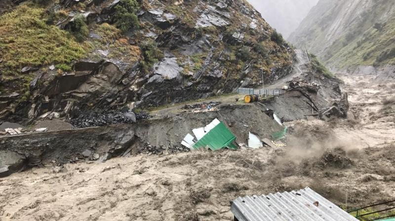 People residing in the low-lying areas, especially in Kangra, Chamba, Kullu and Mandi districts, are being evacuated, officials said. (Photo: Twitter | ANI)