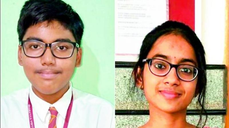Ankit Saha (99.4%) and Maddala Harshini (99.4%)