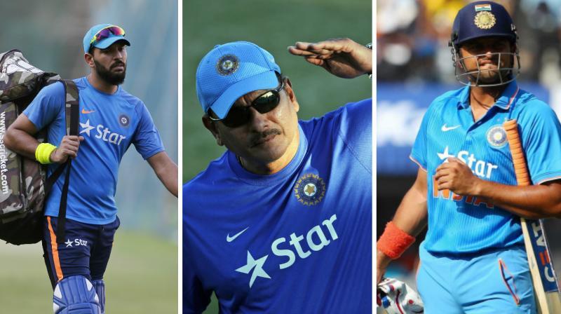 Virat Kohli-led Indian cricket team's head coach Ravi Shastri has made it clear that Yuvraj Singh and Suresh Raina can still make a comeback to the side. (Photo: AP / BCCI)