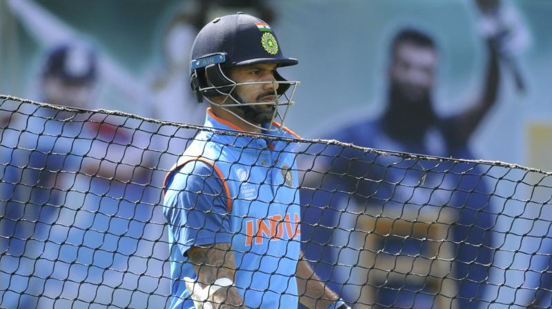 """Team India opener Mr Shikhar Dhawan has requested to be released from the team for the first three ODIs of the Paytm Australia tour of India, 2017 to attend to his wife, who is unwell,"" said BCCI in a media release. (Photo: AP)"