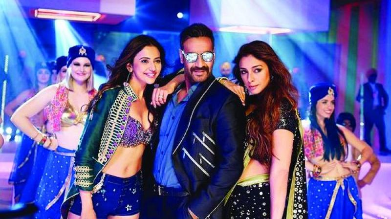 "Confirms  CBFC's CEO Tushar, ""The cut was voluntarily offered by the filmmaker."" Nonetheless the cut, voluntarily or otherwise, still appears odd in a film that has Ajay Devgn kissing both his heroines— Tabu and Rakul Preet Singh."