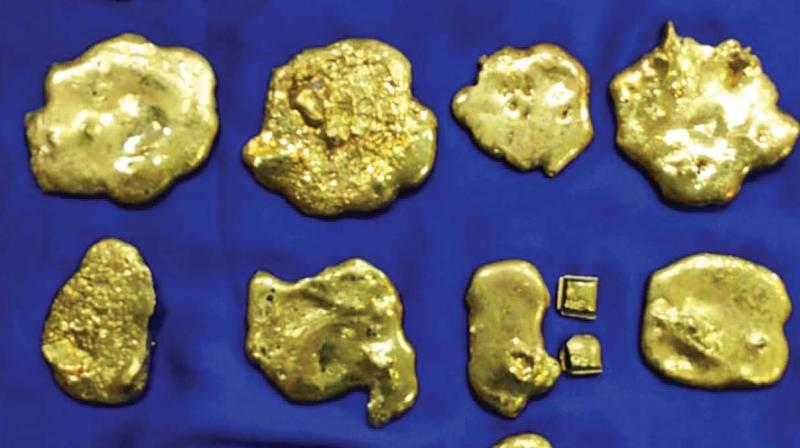 Four passengers identified as Feroz Khan (24) of Chennai, Syed Sikandar (26) of Virudhunagar, Mohamed Munas (46) and Jawseer (44) both from  Colombo, who landed from Colombo by an Indigo Airlines flight were stopped. Gold pieces concealed in their rectum were seized.  AIU officers intercepted Sulthan Syed Ibrahim