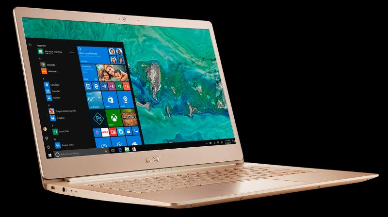 The Swift 5 is supposed to be a compact ultrabook, which is why it comes with a 14-inch display surrounded by narrow bezels, packed in a 13-inch form factor.