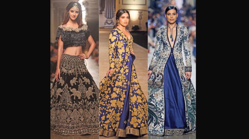 Creations from Manav Gangwani and Reynu Tandon.