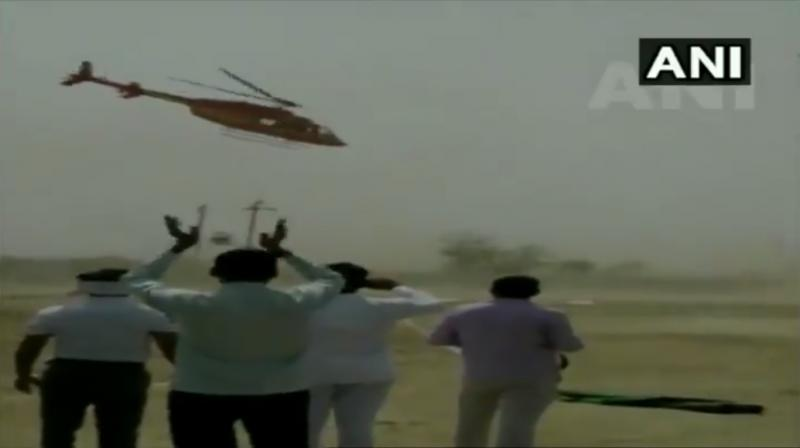 There was one man seen clapping on the scene when the chopper was spinning. (Photo: ANI)