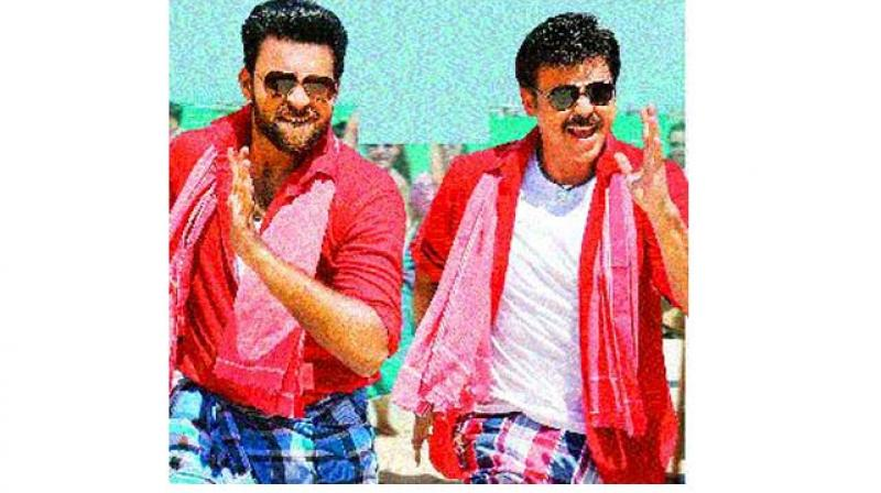 Varun Tej and Venkatesh from the movie