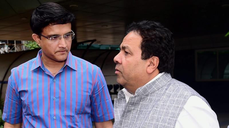The committee will be headed by IPL chairman Rajeev Shukla, with BCCI acting secretary Amitabh Chaudhary as its convener while Sourav Ganguly, TC Mathew, Naba Bhattacharjee, Jay Shah and Anirudh Chaudhry are the other members of the committee. (Photo: PTI)