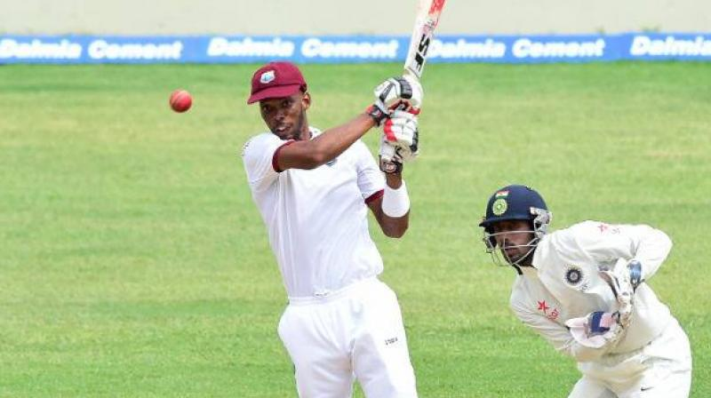 in 2016, Roston Chase played a characteristic knock for West Indies in the second innings of the second Test at Sabina Park. (Photo:AFP)