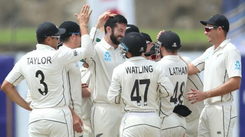 The Kane Williamson-led New Zealand have also made one change in their bid to level the series, with Mitchell Santner making way for Colin de Grandhomme. (Photo: ICC/Twitter)