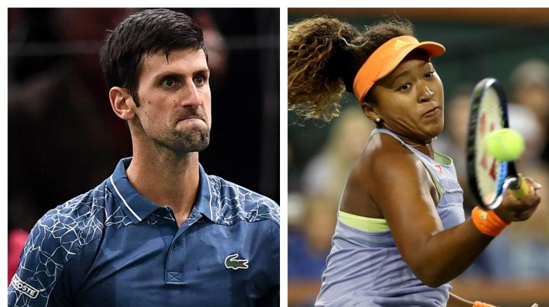 World number ones and defending champions Novak Djokovic and Naomi Osaka were named as top seeds for the US Open on Wednesday. (Photo:AFP)