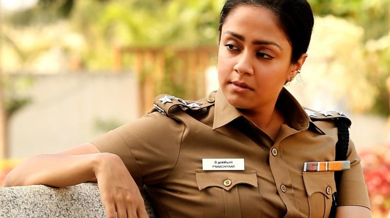 Jyothika in a still from 'Naachiyaar.'