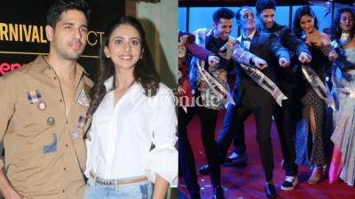 Rakul Preet Singh and Sidharth Malhotra were snapped at various events in Mumbai as their film 'Aiyaary' hit the theatres on Friday. (Photo: Viral Bhayani)