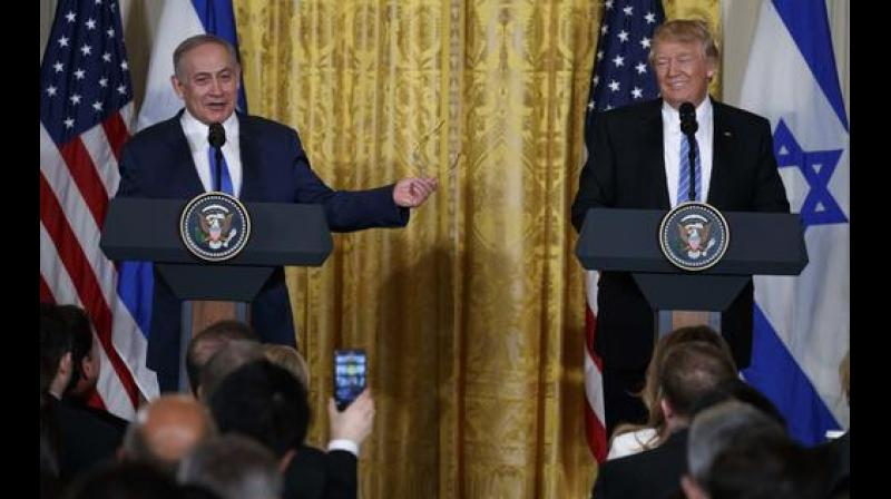 Netanyahu has said any future Palestinian state must be demilitarized and must recognise Israel as the state of the Jewish people - conditions that Palestinians say show he is not sincere about peacemaking. (Photo: AP | File)