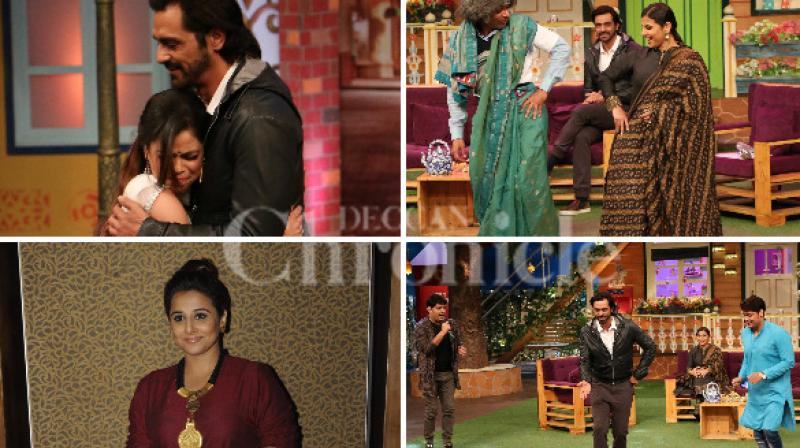 On Thursday, Vidya Balan and Arjun Rampal were guests on the sets of 'The Kapil Sharma show' where they were seen promoting their upcoming suspense thriller 'Kahaani 2: Durga Rani Singh' (Pic courtesy: Viray Bhayani).
