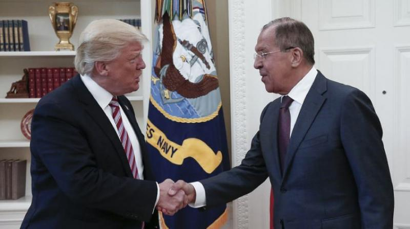 President Donald Trump meeting with Russia's Sergei Lavrov in the Oval Office were issued by the Russian state news agency TASS, and subsequently published by much of the global media (Photo: AFP)