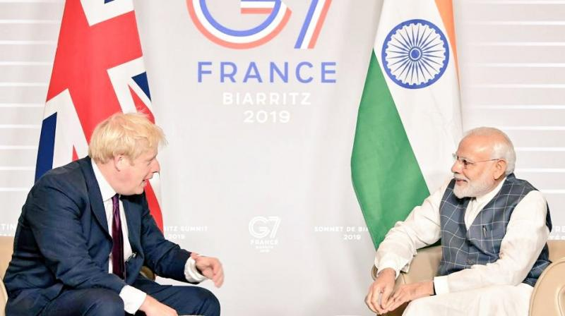Modi meets Johnson on G7 Summit sidelines, agree to further India-UK bilateral ties