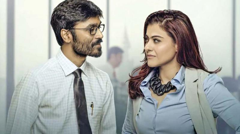 Dhanush and Kajol from a promotional still for VIP 2.