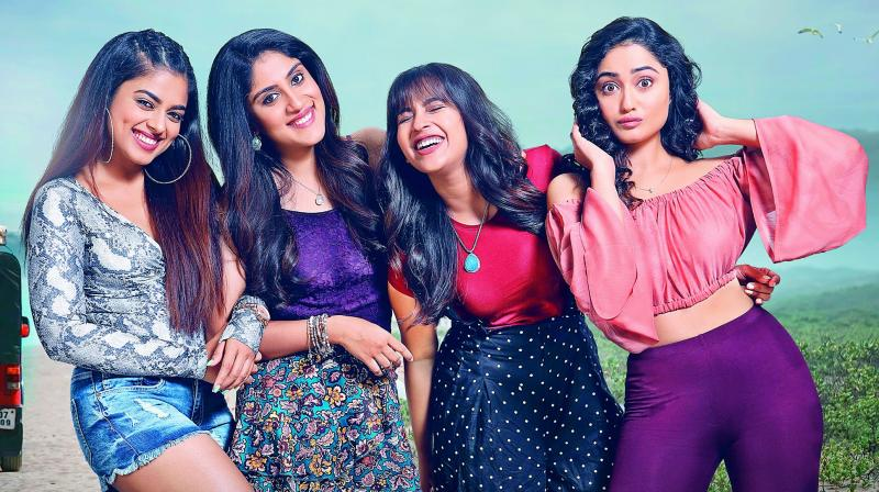 The first look of the film was recently released by producer Sudhakar Reddy. Talking about his debut film, Balu says that the story revolves around four young women.