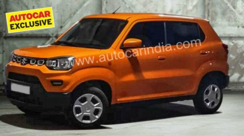 Leaked image shows the Maruti Suzuki S-Presso's front and side design.