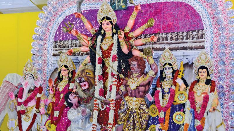 A puja organised by South Madras Cultural Association.
