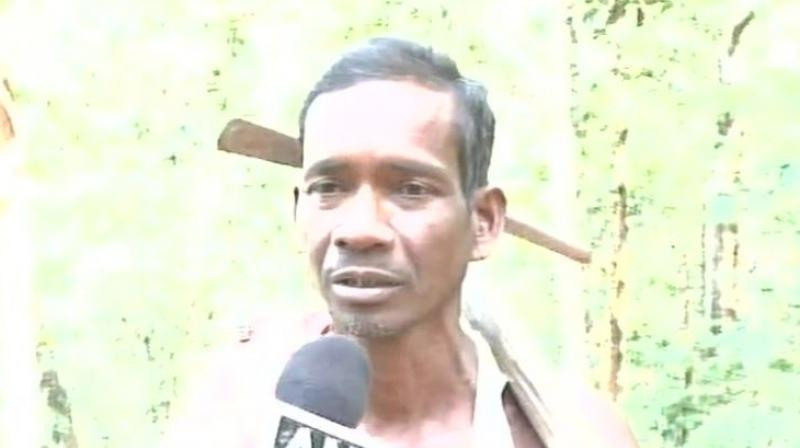 Nayak's family is the only one residing in the area as rest of the people living in the village had shifted to other places because of the difficult terrain. (Photo: ANI/Twitter)