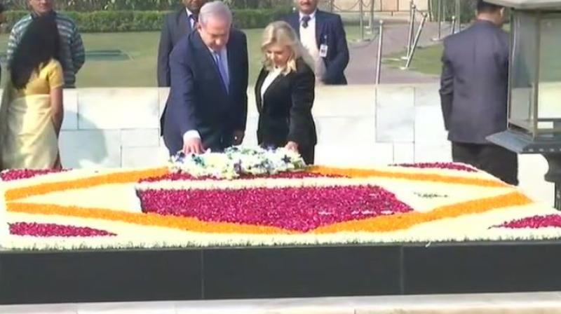 Prime Minister Modi receives Israel PM Netanyahu at airport