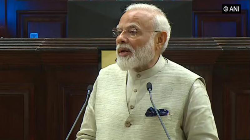 'Indo-Pacific region is an inalienable part of our existence. It has been our lifeline, and also the highway for trade and prosperity,' Modi, addressing Maldives' parliament, said. (Photo: ANI)