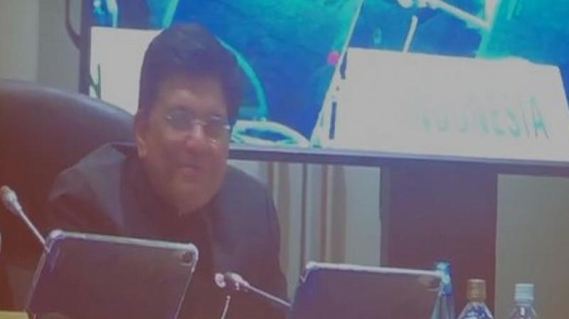 'A greater participation of MSMEs in developing countries will boost both domestic and global trade because they are crucial for jobs and income generation on which the livelihood of millions is dependent,' Goyal said. (Photo: ANI)