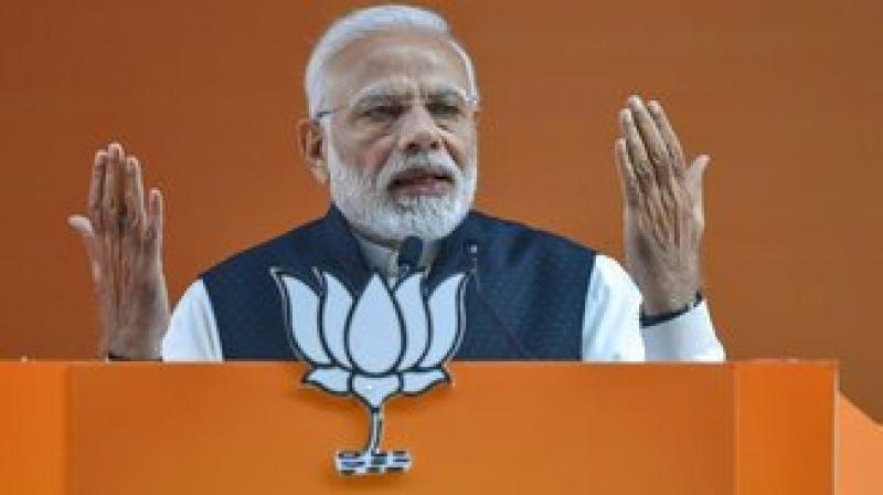 'We want a strong government so that we can put an end to corruption. These days there is a failed experiment taking place in the country which is known as the grand alliance,' PM Modi said. (Photo: PTI)