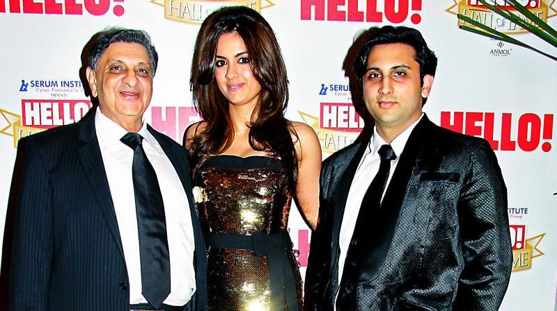 Cyrus Poonawalla with his son Adar and daughter-in-law Natasha (Photo: Hello! India Magazine)