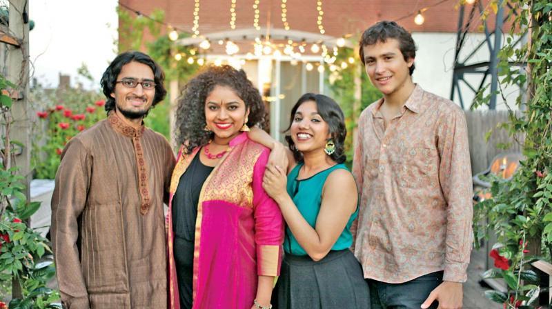 Rohan, Roopa Mahadevan, Anjna and Guy Mintus.