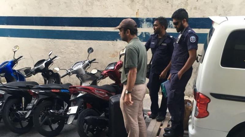 The action against the two journalists came as a privately-owned television station in the Maldives went off the air, citing threats during the country's current state of emergency. (Photo: ANI/Twitter)
